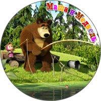 маша и медведь сувенирный магнит
