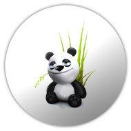 магнит, значек панда