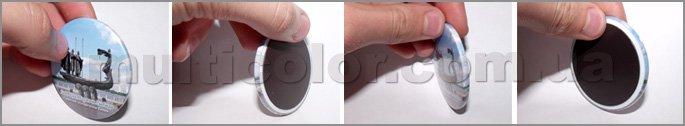 Круглые магниты диаметром 56 мм (Значок на магните)