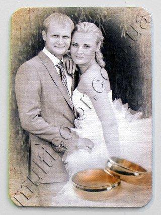 свадебный фотомагнит